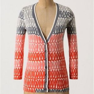 Anthropologie Field of Flowers Loop Stack Cardigan